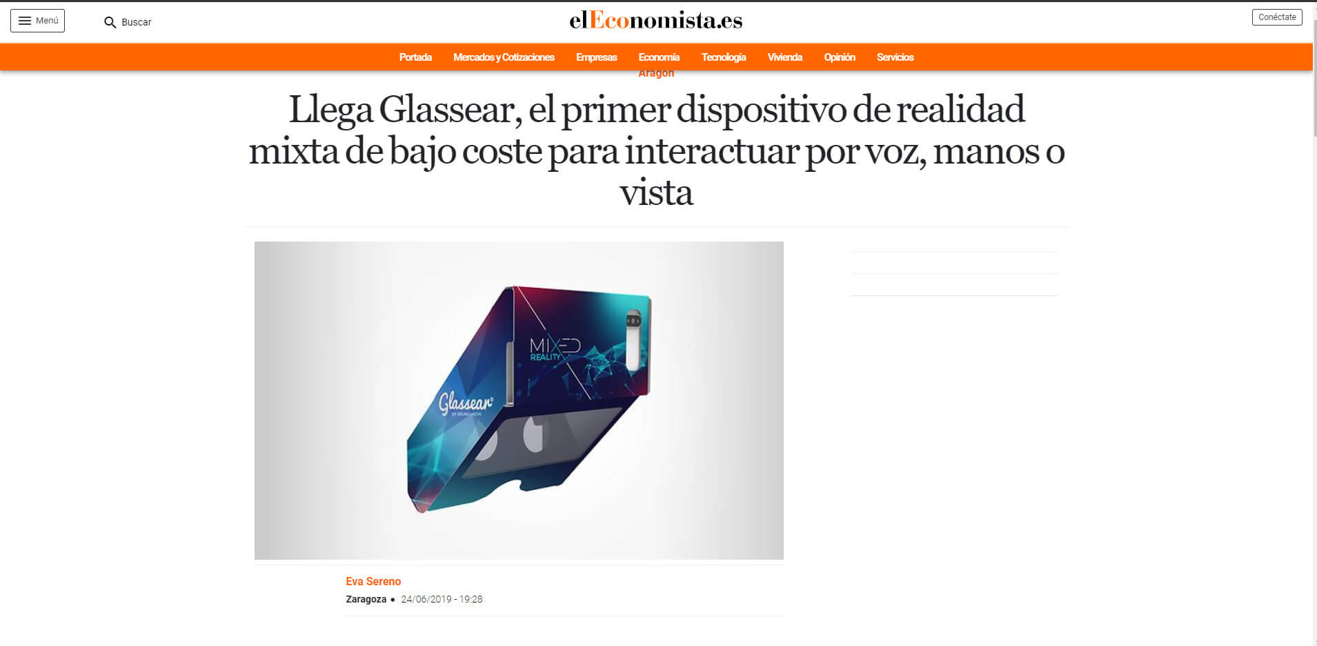 Glassear Article at El Economista, Spanish leader economics journal!